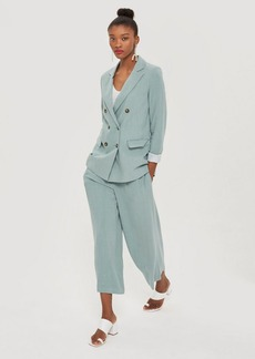 Topshop Horn Button Cropped Leg Trousers