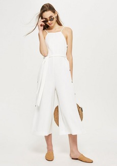 Topshop Horn Button Strappy Jumpsuit