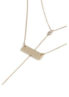 Topshop House Of Freedom Bar Y Necklace