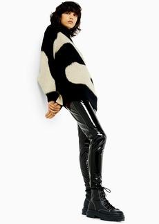 Topshop Idol Black Skinny Vinyl Trousers