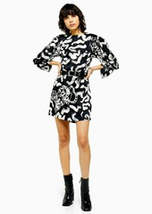Topshop Idol Tiger Print Mini Dress
