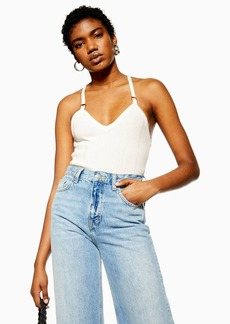 Topshop Ivory Knitted Ring Detail Cami