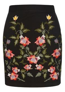 Ivy Flower Embroidered Skirt
