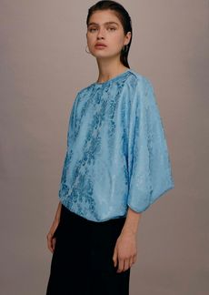 Topshop Jacquard Batwing Top By Boutique