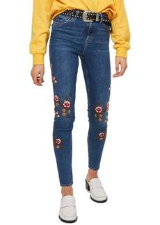 Topshop Jamie Ditsy Floral Jeans
