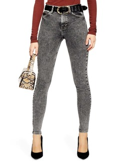 Topshop Jamie High Waist Acid Wash Ankle Skinny Jeans