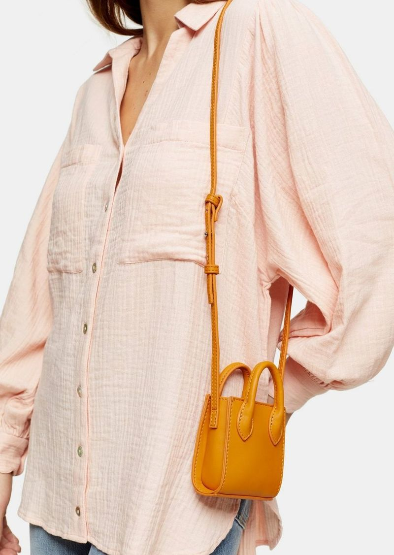 Topshop Jax Orange Micro Mini Tote Bag