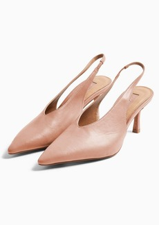 Topshop Jessie Pink Point Slingback Shoes