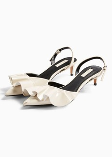 Topshop Jules White Frill Slingback Heels
