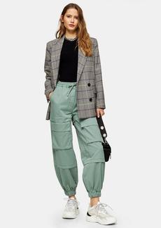 Topshop Khaki Cargo Pocket Woven Sweatpants