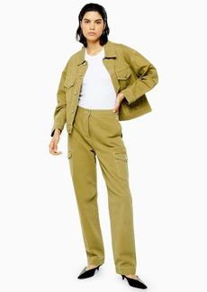 Khaki Denim Utility Jeans By Topshop Boutique
