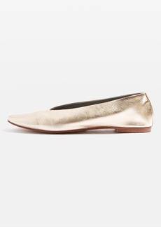 Topshop Kick Soft Leather Ballet Pumps