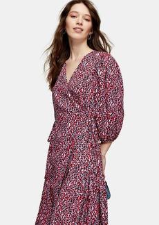 Topshop Kimono Wrap Midi Dress