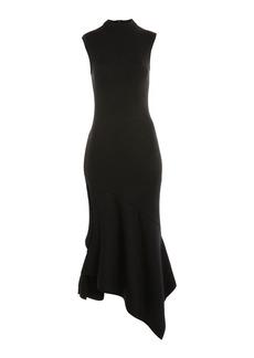 Topshop Knitted Asymmetric Midi Dress