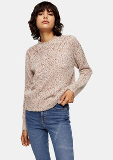 Topshop Knitted Frill Neck Sweater