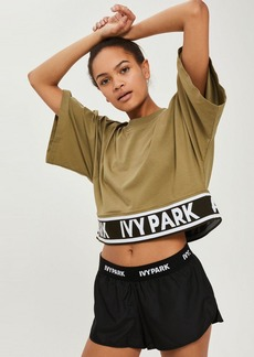 Topshop Knitted Logo Crop T Shirt By Ivy Park