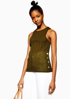 Topshop Knitted Side Button Vest