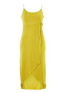 Topshop Knot Tie Slinky Midi Dress