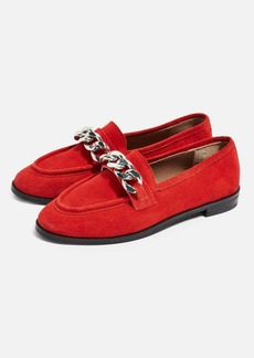 Topshop Koppa Leather Chain Loafers
