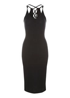 Topshop Lace Back Midi Bodycon Dress
