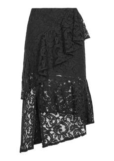 Lace Ruffle Midi Skirt