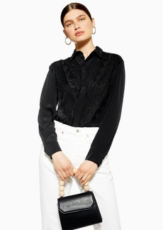 Topshop Lace Shirt