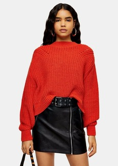 Topshop Ladder Detail Cropped Sweater