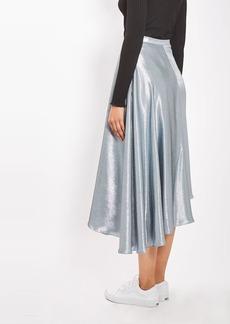 Lame Asymmetric Skirt By Boutique