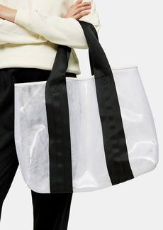 Topshop Bags Accessories /Bags Wallets /Latch Black And White Large Mesh Tote Bag