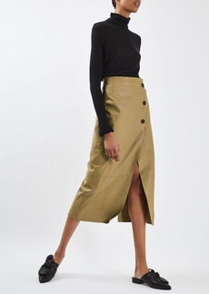 Leather Pencil Skirt By Boutique