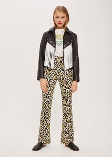 Topshop Leopard Flare Trousers