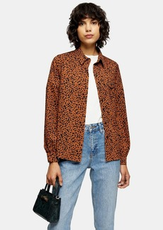 Topshop Leopard Print Shirt