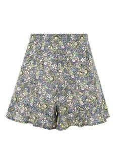 Topshop Limited Edition Print Flower Shorts Made From Liberty Fabric