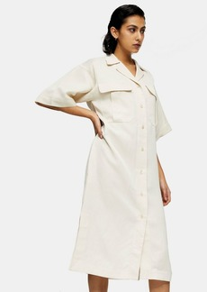 Clothing /Dresses /Stone Shirt Dress With Linen By Topshop Boutique