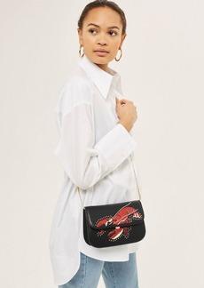 Topshop Lobster Studded Cross Body Bag