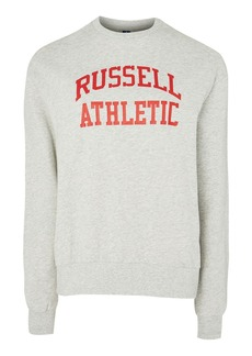 Logo Crew Neck Sweatshirt By Russell Athletic