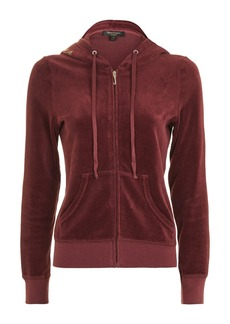 Logo Velour Hoodie By Juicy Couture