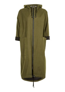 Long Hooded Parka Jacket