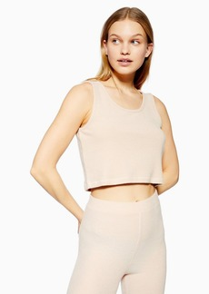 Topshop Lounge Nude Brushed Ribbed Cami