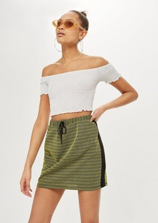 Topshop Luxe Shirred Bardot Top