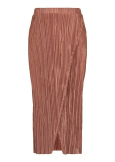 Maternity Plisse Wrap Midi Skirt