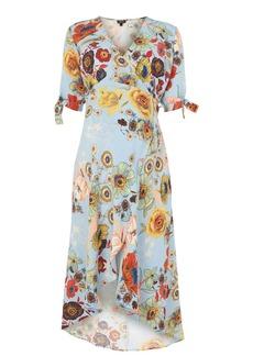 Topshop Maternity Star Floral Print Wrap Midi Dress