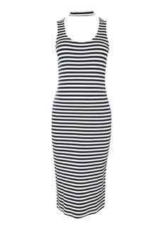 Topshop Maternity Stripe Midi Bodycon Dress