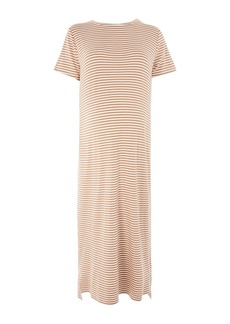 Topshop Maternity Stripe T Shirt Maxi Dress