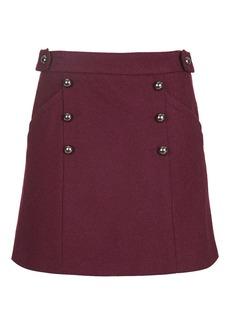 Melton A Line Skirt