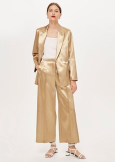 Topshop Metallic Culottes By Boutique
