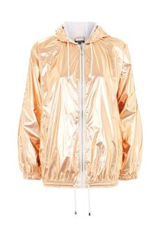 Metallic Hooded Windbreaker Jacket