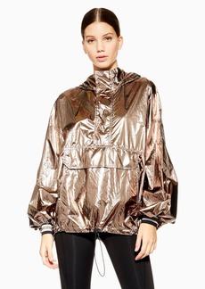 Topshop Metallic Zip Jacket By Ivy Park