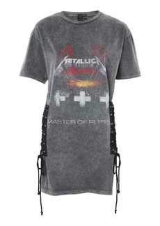 Topshop Metallica Lace Up T Shirt Dress By And Finally