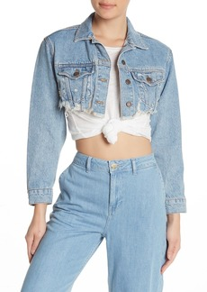 Topshop Micro Ripped Denim Jacket
